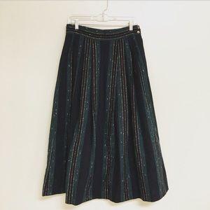 Vintage 70s Woven Maxi Skirt